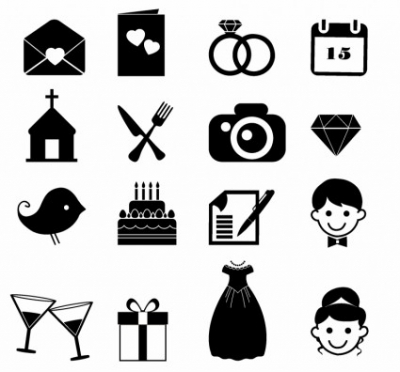 Free vector Vector icon  Wedding Icons