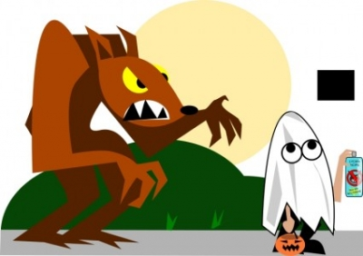 Free vector Vector clip art  werewolf_vs_kid