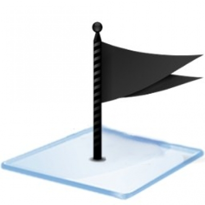 Free icon icons  Windows 7 flag black