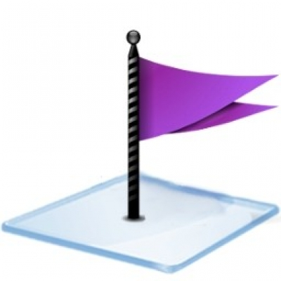 Free icon icons  Windows 7 flag purple
