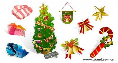 Free vector Vector icon  Winter clothing and Christmas icon vector material