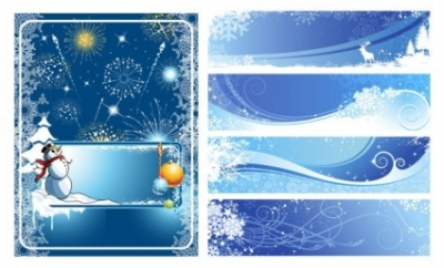 Free vector Vector background  winter vector background