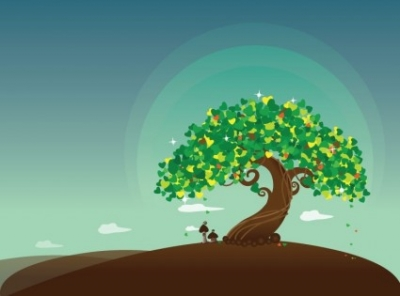 Free vector Vector misc  Wish Tree Vector Illustration
