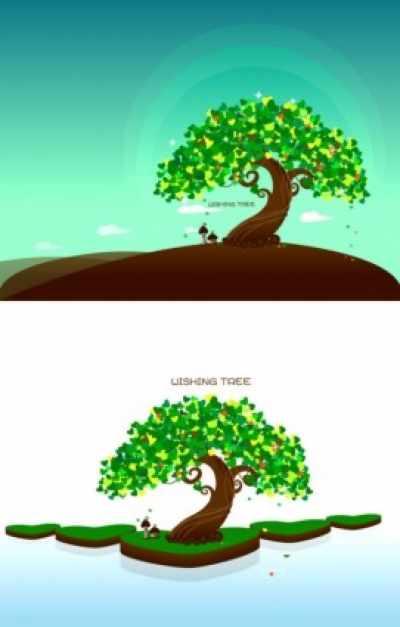Free vector Vector plant  wishing tree vector