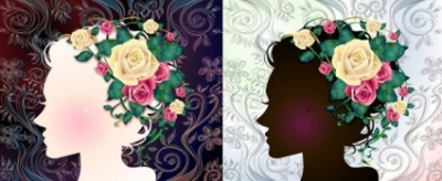 Free vector Vector flower  woman with flowers vector 1