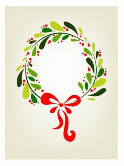 Free vector Vector Christmas  Xmas wreath background