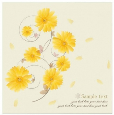 Free vector Vector background  Yellow Flower Vector Background
