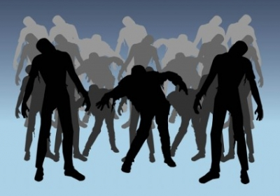 Free vector Vector Silhouettes  Zombies Silhouettes